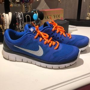 Orange and Blue Nike Sneakers